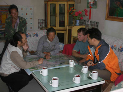 meeting with local people