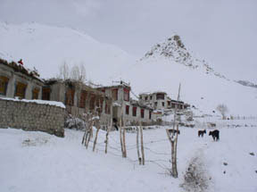 The village of Rumbak in winter