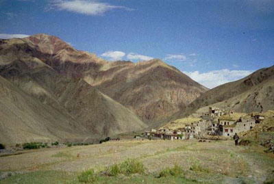 the village of Rumbak in Northern India