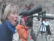 trekkers amazed by their encounter with a snow leopard