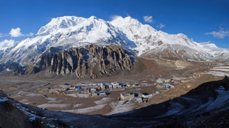 panoramic view of Manang