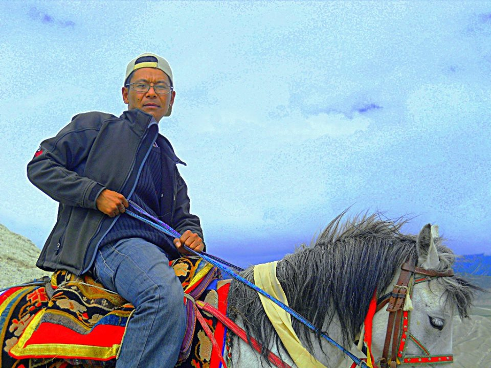 Pema on horse