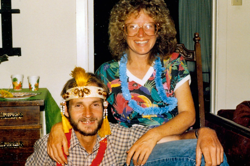 Rod & Darla wearing leis in early 1980s