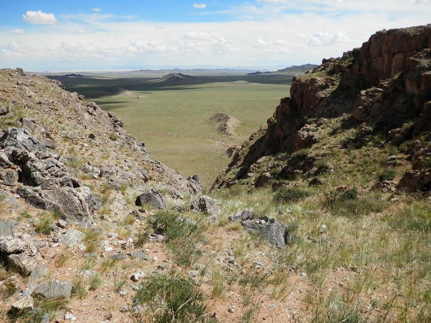 landscape with cragging outcrop