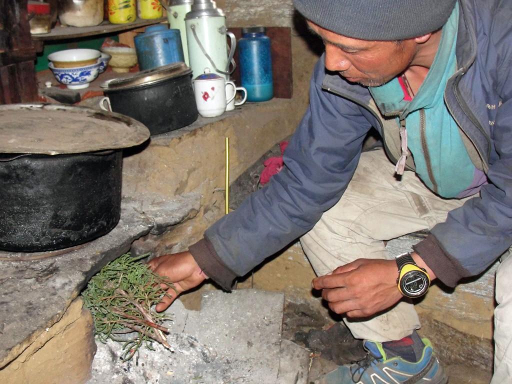 Tenzing Dorje Sherpa. incense